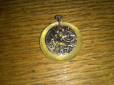 Antique BARONESS 7 jewell pendent Watch Swiss made & gold filled  Slide Chain