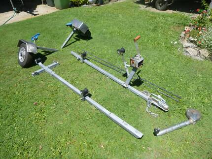 boat trailer collapsable