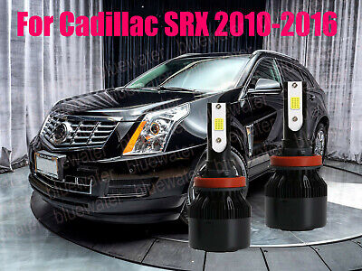 LED For Cadillac SRX 2010-2016 Headlight Kit H11 White CREE Bulbs Low Beam