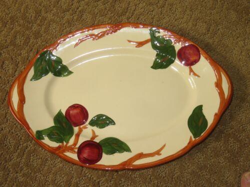 "TABLE DECOR Mid-Century FRANCISCAN APPLE 12.5"" Oval Platter #1"