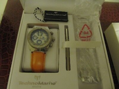 TechnoMarine Silver, Pearl Face with Diamonds Watch