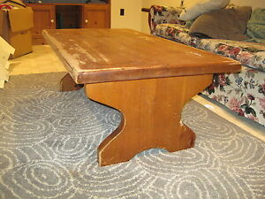 "SOLID Pine Coffee Table 2"" $75 was $100"