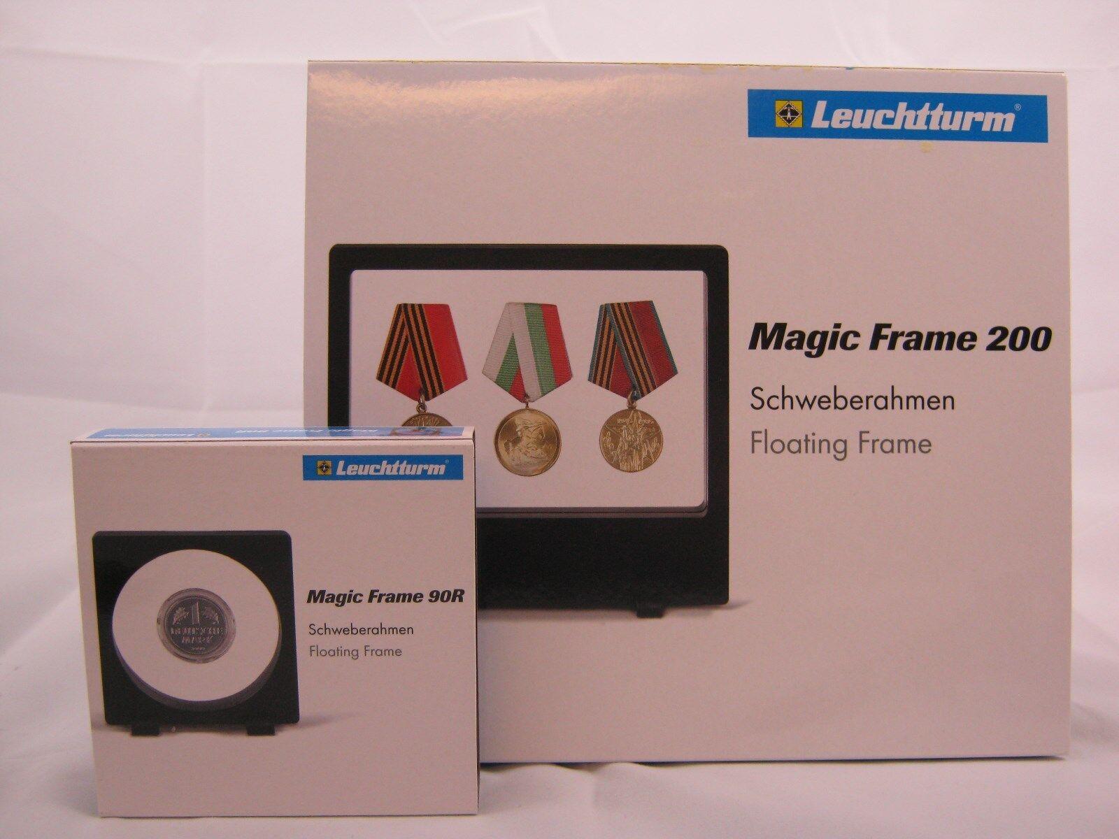 Leuchtturm Schweberahmen Magic Frame für Münzen, Mineralien etc., versch. Mod.