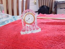 Waterford Crystal Mantle Carriage Clock - 3 Tall Needs a Battery