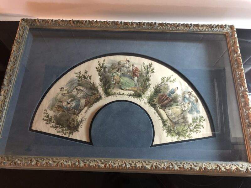 Antique Unmounted Fan French Print