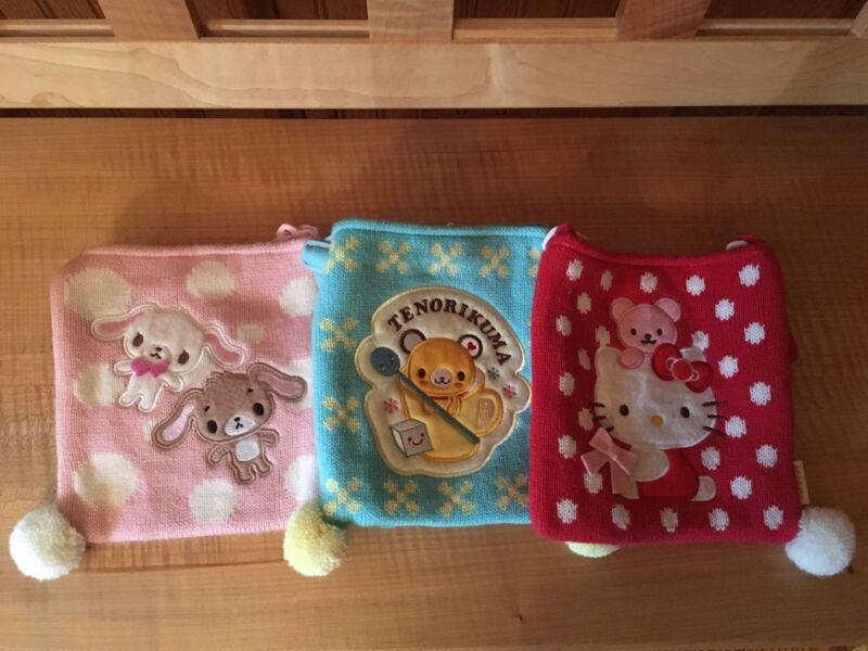 Sanrio Knit Bag Sets(Hello Kitty,Tenorikuma,sugarbunnies)