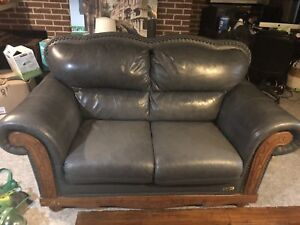 Beautiful leather couch and love seat.