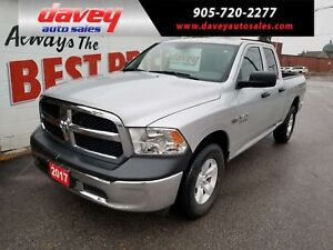 2017 RAM 1500 ST LIKE NEW CONDITION!! 4X4, QUAD CAB
