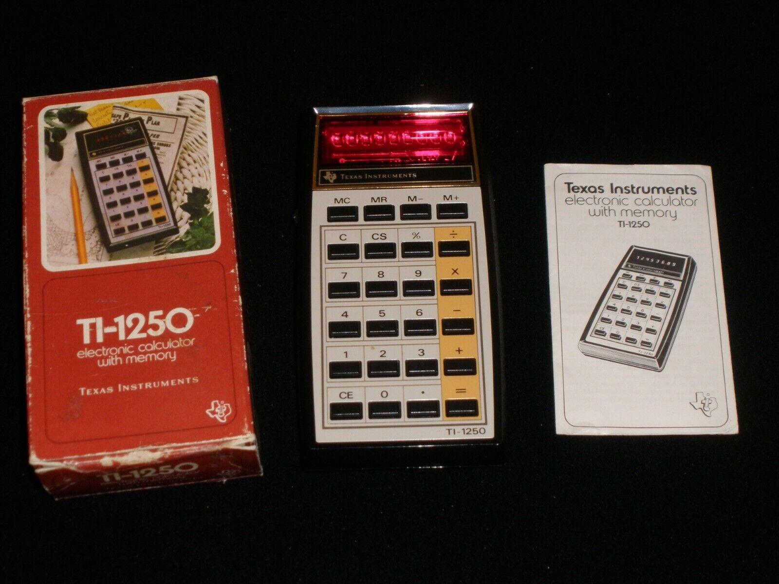 Vintage Texas Instruments TI-1250 Calculator - $9.99