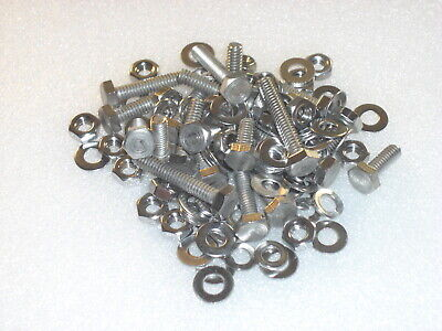 99pc Stainless 1/4-20 BSW Whitworth Mudguard Fixing Bolts Nuts Washers Camera