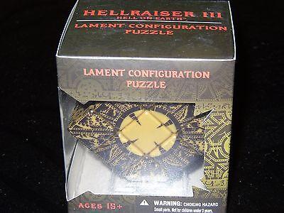 HELLRAISER REPLICA PUZZLE BOX (MOVABLE) Clive Barker Pinhead Halloween Mezco blu
