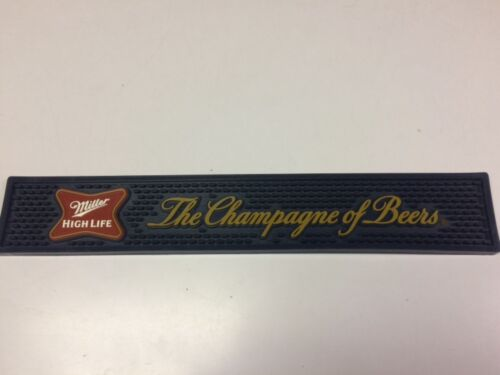 """Miller High Life Bar, Runner Rail Mat The Champagne of Beers. 3.5"""" x 21"""" NEW"""