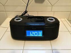 iLuv iMM153BLK-01 32-Pin iPod Dock Station Dual Alarm Clock w/ AC Adapter
