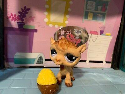 LITTLEST PET SHOP CUTE BROWN FUZZY CAMEL #997 CANTEEN BOW CUPCAKE ACCESSORIES  - Littlest Pet Shop Cupcakes