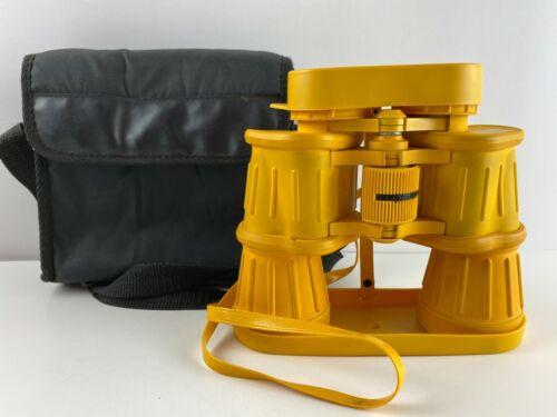Vintage TASCO ZIP Yellow Marine Rubber Coated Binoculars 222YRZ, 7x50