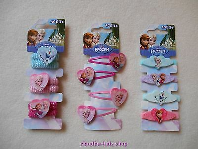 Disney, Frozen- Die Einkönigin, 4 Haarklammern, 3 Haargummi, 4 Haarspangen  NEU  Disney Frozen Haarspangen