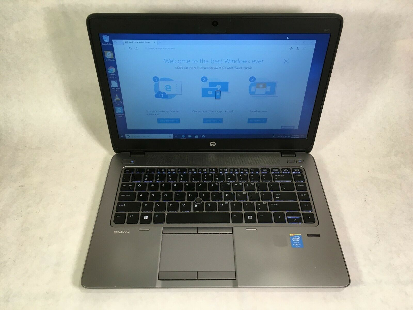 "Laptop Windows - HP EliteBook 840 14"" Laptop Intel Core i7 2.1GHz 4GB 120GB SSD Windows 10"