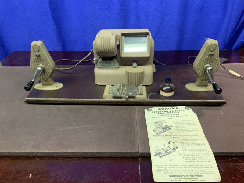 Vintage Compco Super Action Editor 8mm Movie Film Editor Mounted With Splicer