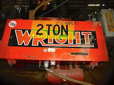 2 Ton Wright Electric Hoist