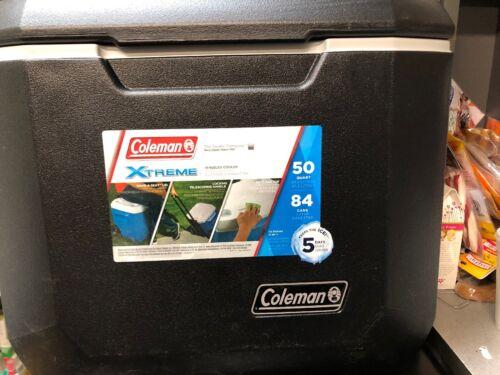 Colman Extreme Marine Cooler 50 Qt Wheeled Soda Beer Food Ba