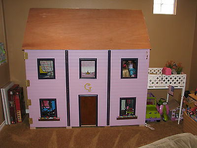 "American Girl Dollhouse - 18"" Doll Sized PLANS for Dollhouse"