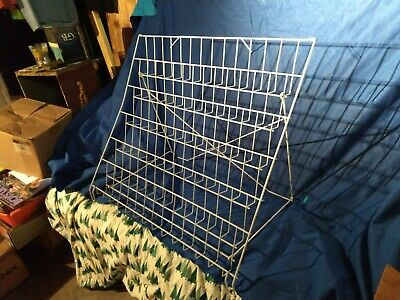 6-tiered Wire Display Rack Tabletops Dvd Literature Holder 2 Shelves 30x22 Fold