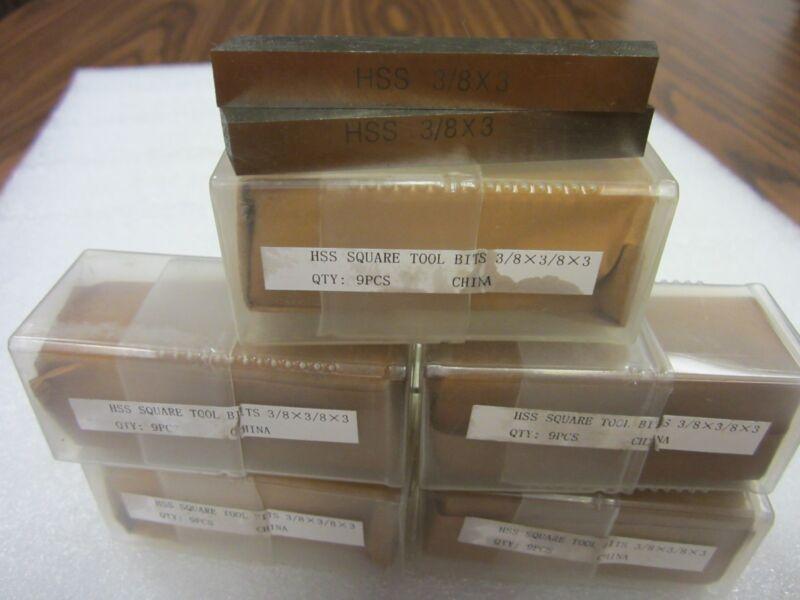 "50pcs 3/8  x 3""  HSS Square tool bits for $64.00 #HS-2BT-38---new"