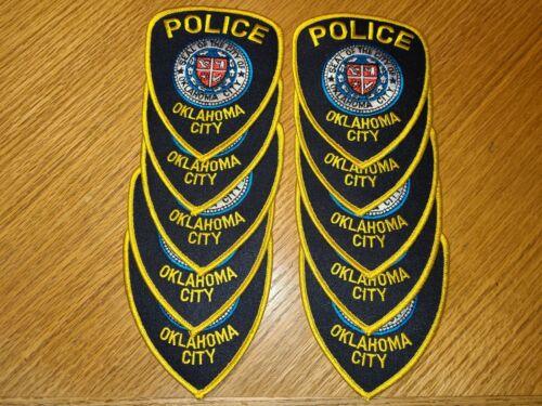 OKLAHOMA CITY OKLAHOMA OK Trade Stock 10 Police Patches POLICE PATCH