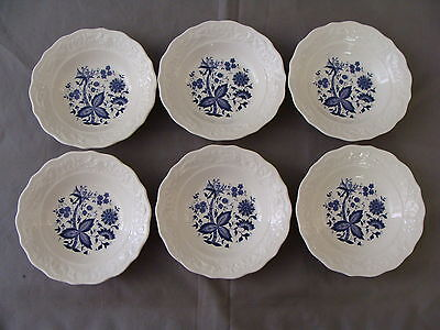 "6 Rare Vintage ""Blue Onion"" Design Berry/Dessert Bowls on Rummage"
