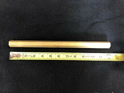 34 Hex Bar 360 Brass X 12.00 Long  Lathe Or Milling Stock