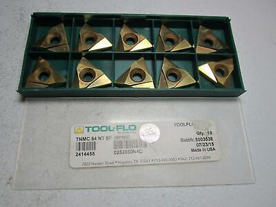 Tool-flo 2414455 Tnmc 54 Nt 5p Gp50c Carbide Threading Inserts - Pack Of 10