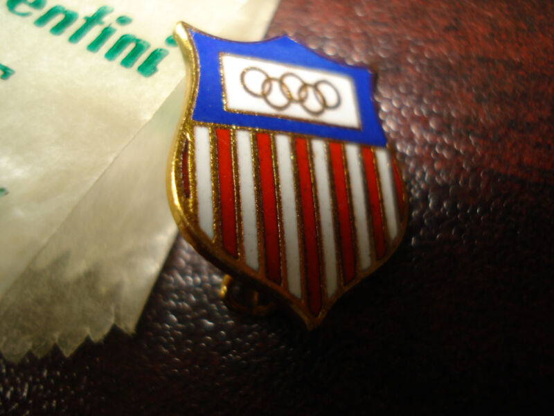1 Undated USA Olympic Metal Pin Circa 1930s-50s Free Shipping Vintage Rare