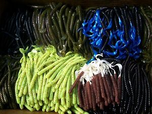 Soft plastic bass baits ebay for Best worms for fishing