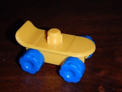 Fisher Price Little People Yellow Skateboard city park village town school toy  - Little Skateboard Toys