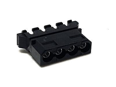 Molex 4 Pin Power Push in Style Stecker Connector - 5 Stück schwarz online kaufen