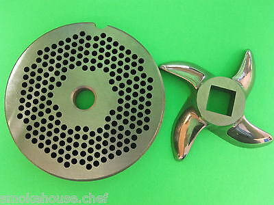 22 X 18 Meat Grinder Plate Knifestainless Fits Hobart Tor-rey Lem More