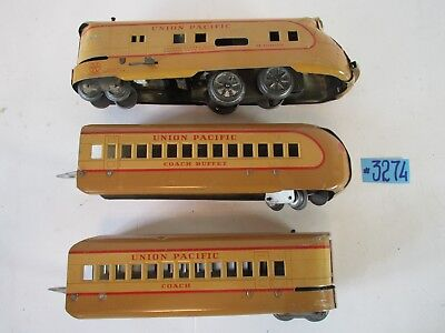 Louis Marx & CO Toys union pacific windup train Set M-10000 1930-40s, used for sale  Shipping to Canada