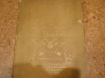 """Original 1896 first edition """"La Boheme"""" libretto"""