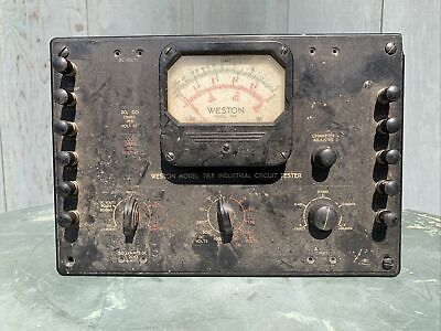 Vintage Weston Model 785 Industrial Circuit Tester Vintage Radio Test Equipment
