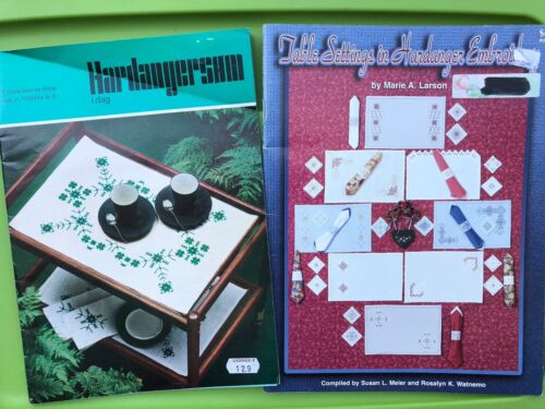 Hardanger Embroidery Pattern Book Lot - Table Settings / Home Linens