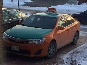 2013 Toyota Camry Hybrid with Toronto Taxi Plate