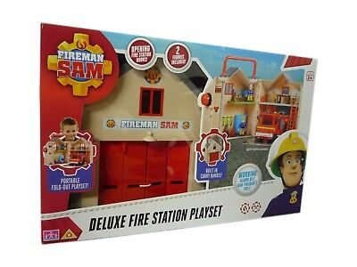 Fireman Sam Toy Deluxe Fire Station Playset Inc Figure & Accessories