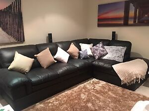 Fontana leather corner couch bonas double bed and side tables!!! Carbrook Logan Area Preview
