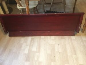 Antique mahogany footboard