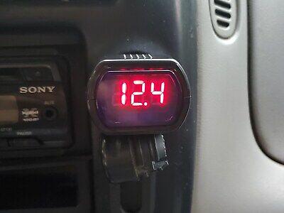 Dc Auto Battery Voltage Meter Voltmeter Car Lighter Socket Plug-in