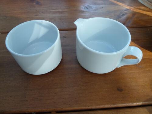 Dansk Bistro Bisserup Portugal White Creamer/Milk Jug/Syrup Pitcher + Sugar Bowl