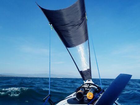 vela delta de kayak