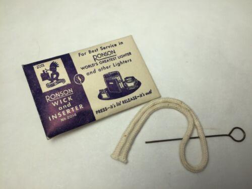 Vintage RONSON Lighter WICK & INSERTER Kit ORIGINAL Ronson Replacement NOS Nice!