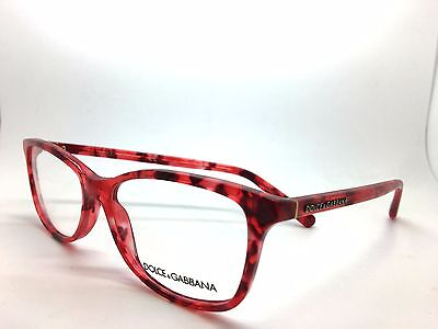 DOLCE & GABBANA D&G GLASSES FRAME DG3222 2923 RED MARBLE 54-15-140 NEW AUTHENTIC