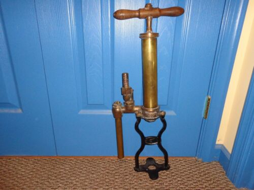 Antique O. Perkles, Phila. Brass & Cast Iron Hand Operated Sump Pump, Steampunk